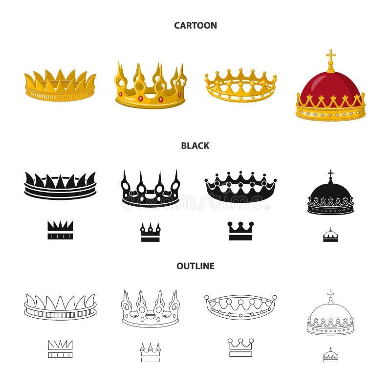 Dise?o del vector de icono medieval y de la nobleza Fije del s?mbolo com?n medieval y de la monarqu?a para la web libre illustration