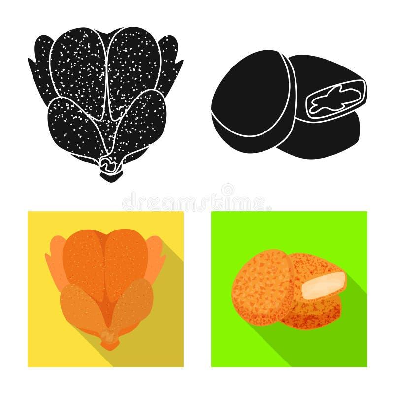 Dise?o del vector de icono del producto y de las aves de corral Fije de producto y del ejemplo com?n del vector de la agricultura ilustración del vector