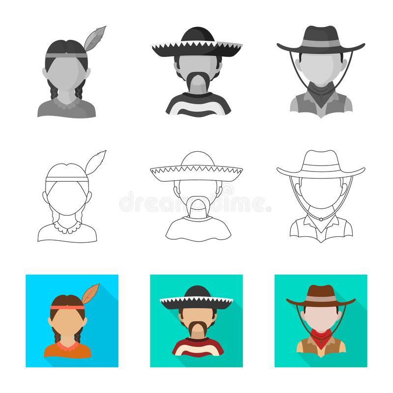 Dise?o del vector de imitador y de icono residente Fije del s?mbolo com?n del imitador y de la cultura para la web libre illustration