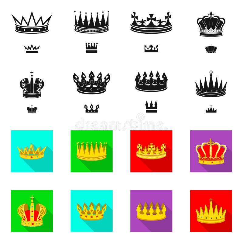 Dise?o del vector de logotipo medieval y de la nobleza Colecci?n de ejemplo com?n medieval y de la monarqu?a del vector stock de ilustración