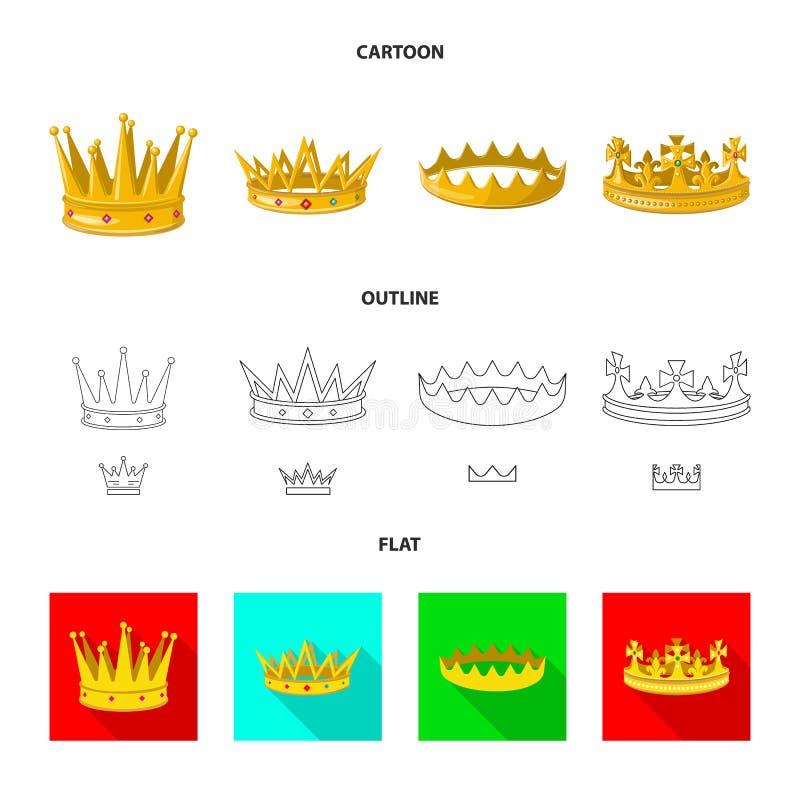 Dise?o del vector de logotipo medieval y de la nobleza Colecci?n de s?mbolo com?n medieval y de la monarqu?a para la web ilustración del vector