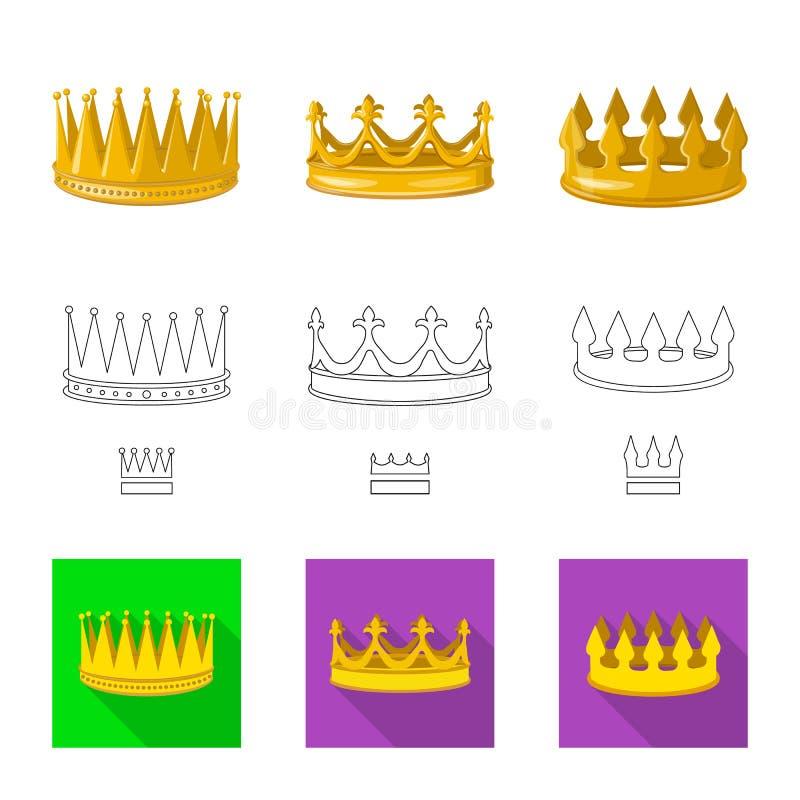 Dise?o del vector de logotipo medieval y de la nobleza Colecci?n de s?mbolo com?n medieval y de la monarqu?a para la web stock de ilustración