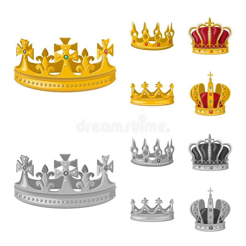 Dise?o del vector de logotipo medieval y de la nobleza Fije del s?mbolo com?n medieval y de la monarqu?a para la web libre illustration