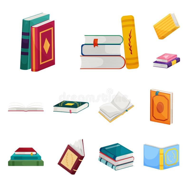 Dise?o del vector de muestra de la biblioteca y de la librer?a Fije del icono del vector de la biblioteca y de la literatura para ilustración del vector