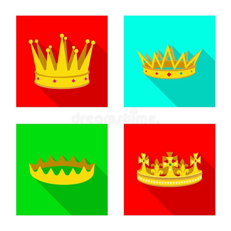 Dise?o del vector de muestra medieval y de la nobleza Colecci?n de icono medieval y de la monarqu?a del vector para la acci?n stock de ilustración