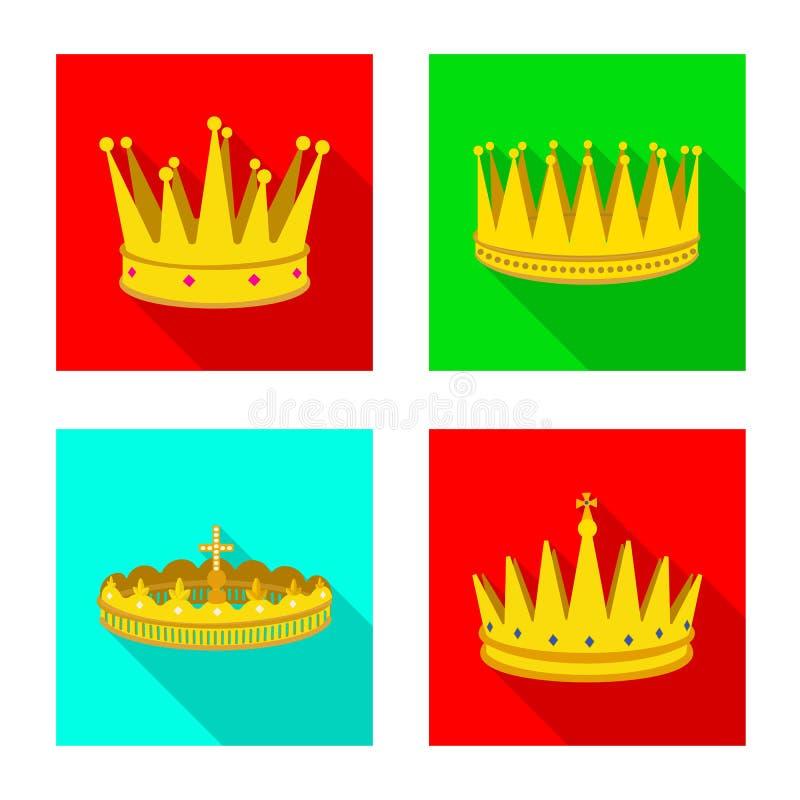 Dise?o del vector de muestra medieval y de la nobleza Colecci?n de s?mbolo com?n medieval y de la monarqu?a para la web libre illustration