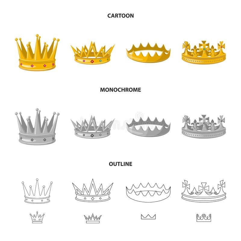 Dise?o del vector de muestra medieval y de la nobleza Fije del ejemplo com?n medieval y de la monarqu?a del vector ilustración del vector