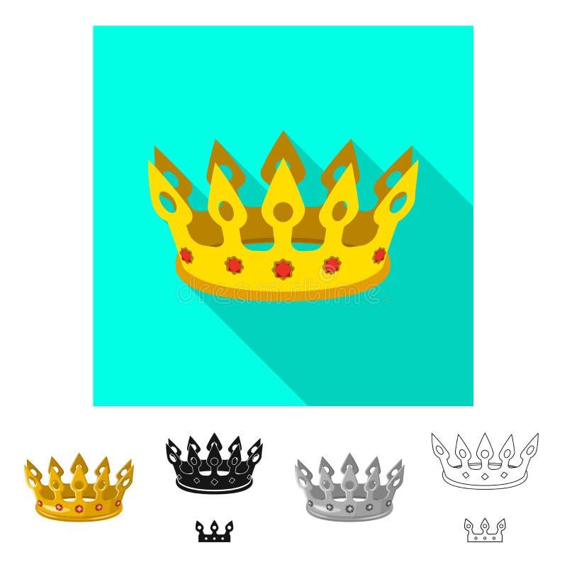 Dise?o del vector de muestra medieval y de la nobleza Fije del icono medieval y de la monarqu?a del vector para la acci?n stock de ilustración