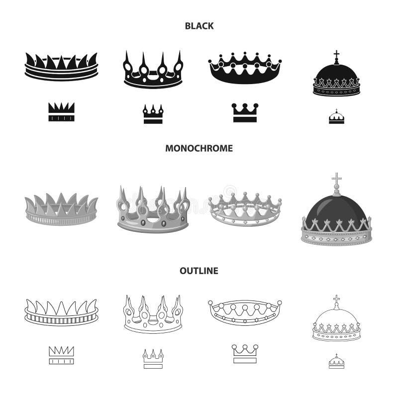 Dise?o del vector de muestra medieval y de la nobleza Fije del s?mbolo com?n medieval y de la monarqu?a para la web ilustración del vector