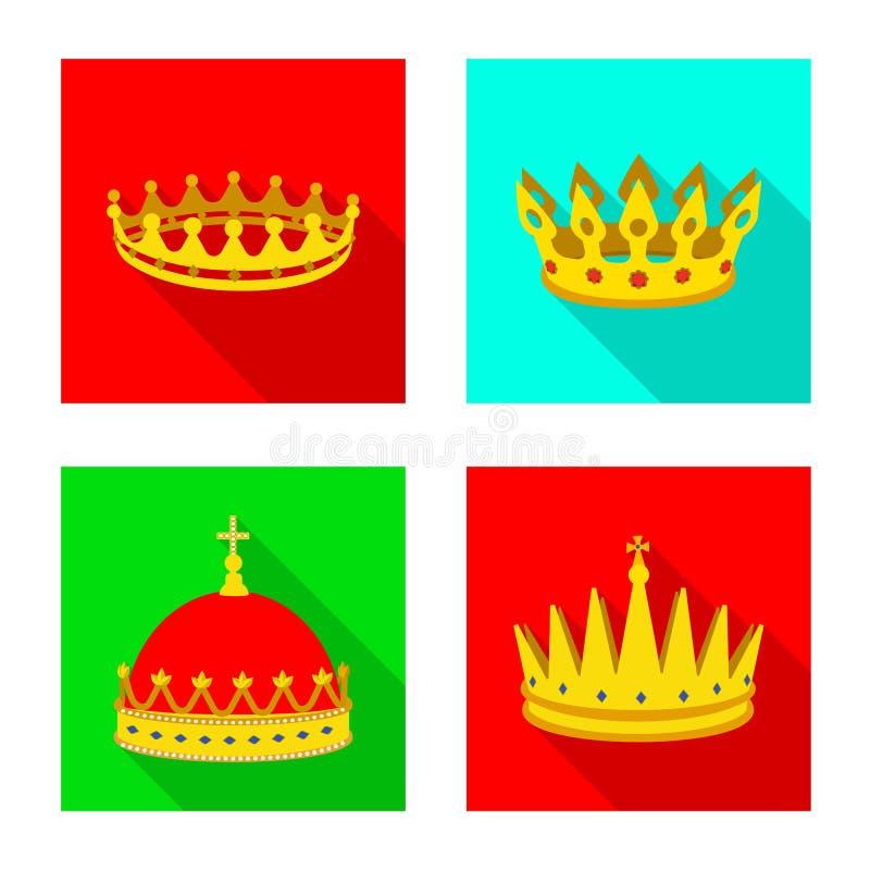 Dise?o del vector de muestra medieval y de la nobleza Fije del s?mbolo com?n medieval y de la monarqu?a para la web libre illustration