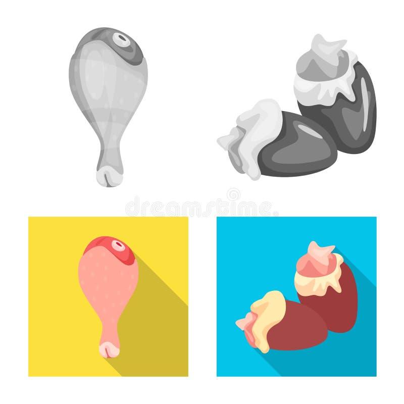 Dise?o del vector de muestra del producto y de las aves de corral Colecci?n de producto e icono del vector de la agricultura para libre illustration