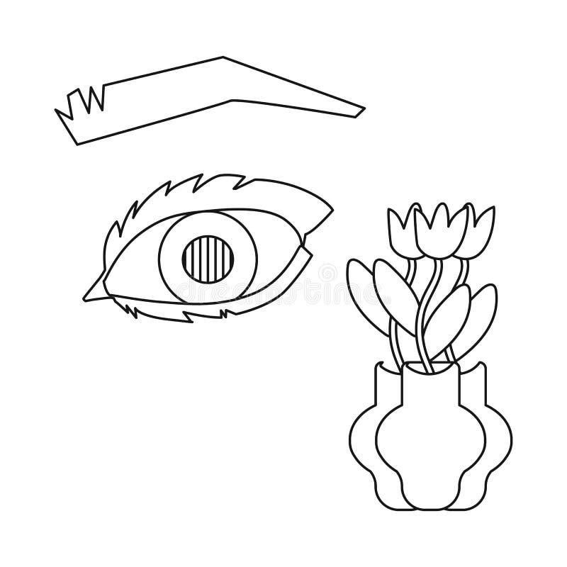 Dise?o del vector de ojo y de icono pobre Colecci?n de ojo e icono del vector de la ceguera para la acci?n stock de ilustración