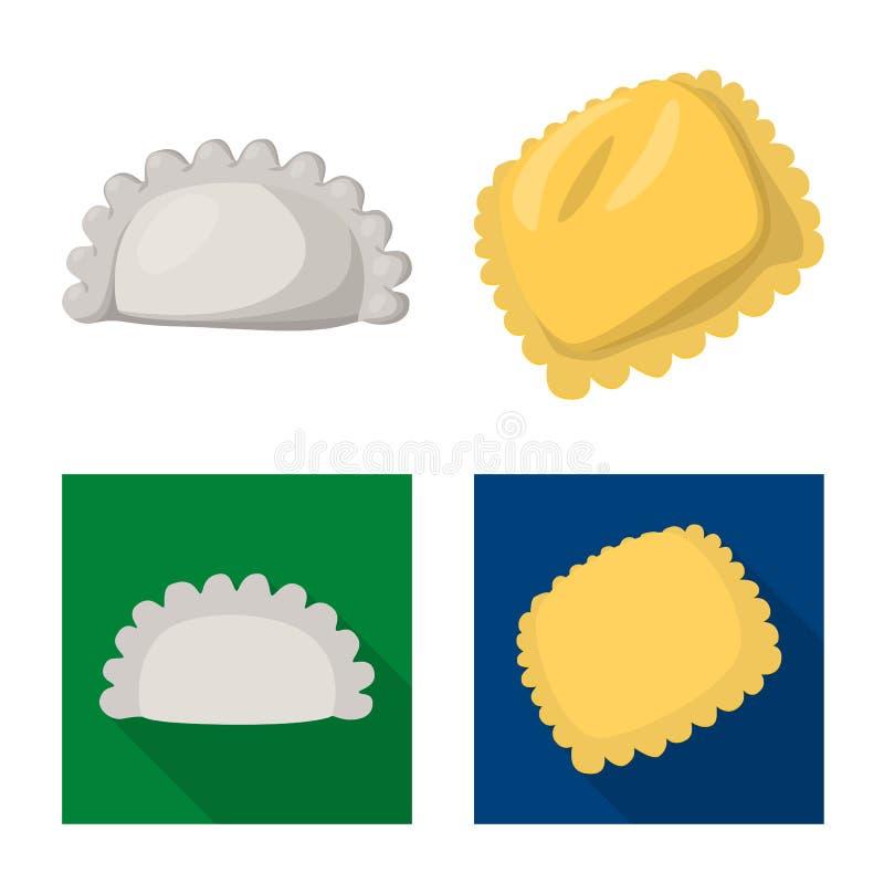 Dise?o del vector de productos y de logotipo el cocinar Colecci?n de productos y de ejemplo del vector de la acci?n del aperitivo stock de ilustración
