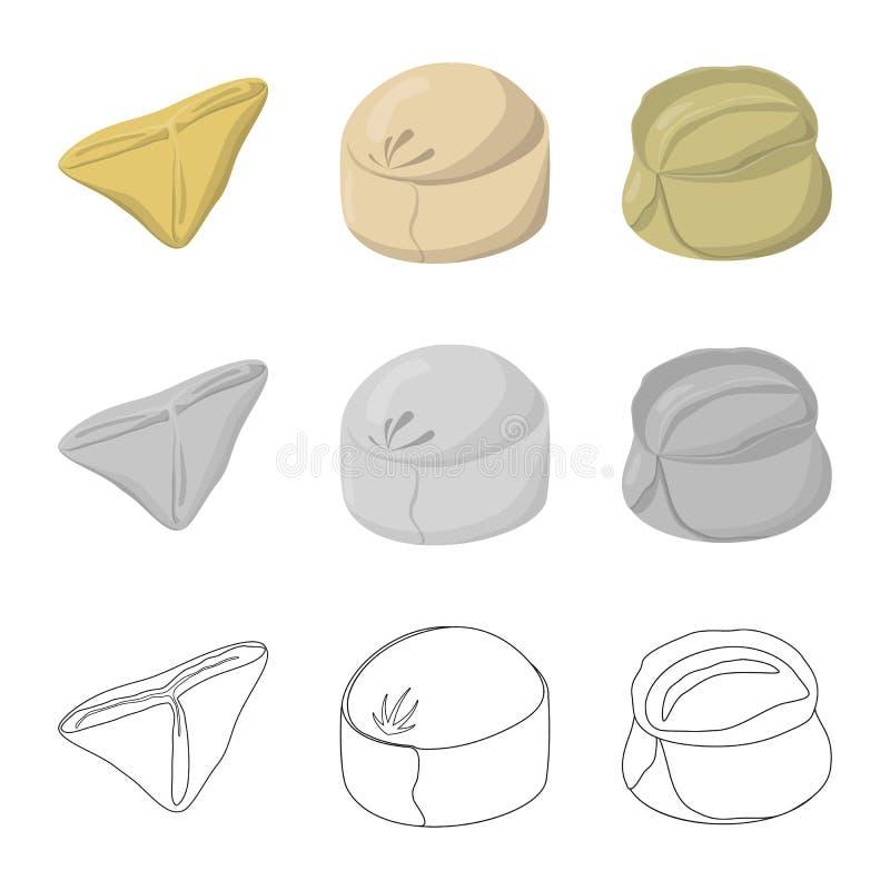Dise?o del vector de productos y de logotipo el cocinar Colecci?n de productos y de s?mbolo com?n del aperitivo para la web libre illustration