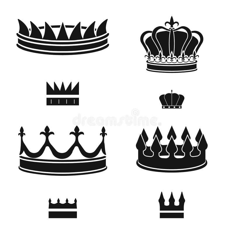 Dise?o del vector de rey y de icono majestuoso Colecci?n de icono del vector del rey y del oro para la acci?n stock de ilustración