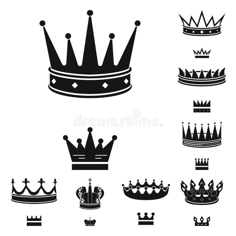 Dise?o del vector de rey y de icono majestuoso Fije del s?mbolo com?n del rey y de oro para la web ilustración del vector