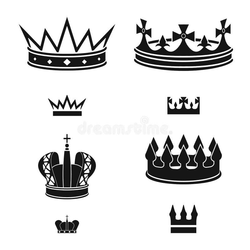 Dise?o del vector de rey y de logotipo majestuoso Colecci?n de s?mbolo com?n del rey y de oro para la web ilustración del vector
