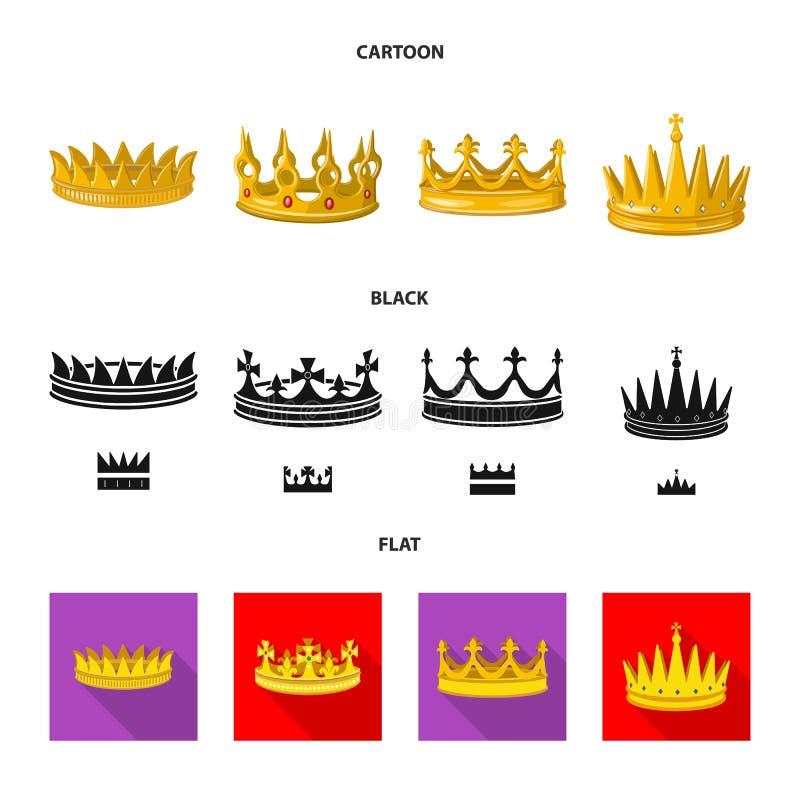 Dise?o del vector de s?mbolo medieval y de la nobleza Colecci?n de s?mbolo com?n medieval y de la monarqu?a para la web libre illustration