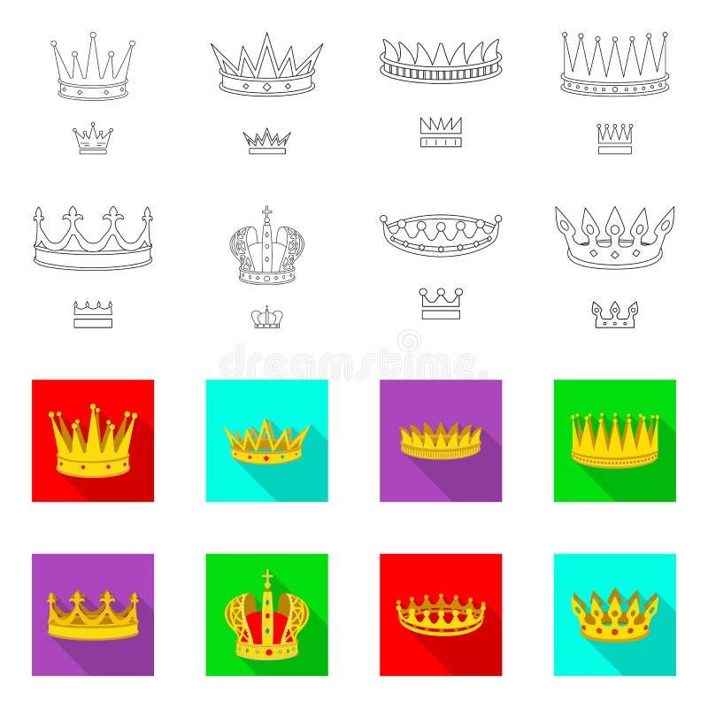 Dise?o del vector de s?mbolo medieval y de la nobleza Fije del s?mbolo com?n medieval y de la monarqu?a para la web stock de ilustración