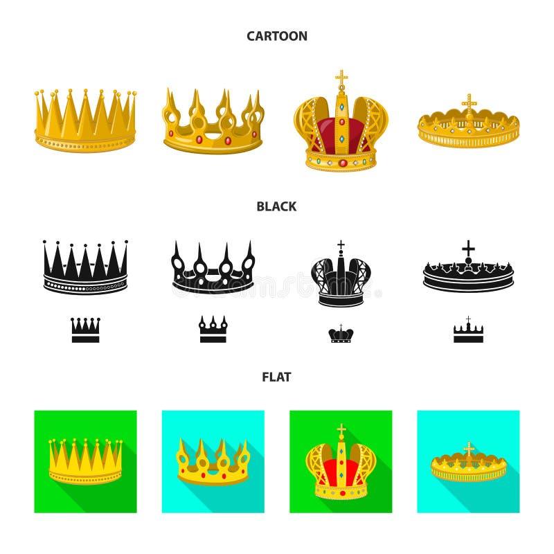 Dise?o del vector de s?mbolo medieval y de la nobleza Fije del ejemplo com?n medieval y de la monarqu?a del vector ilustración del vector