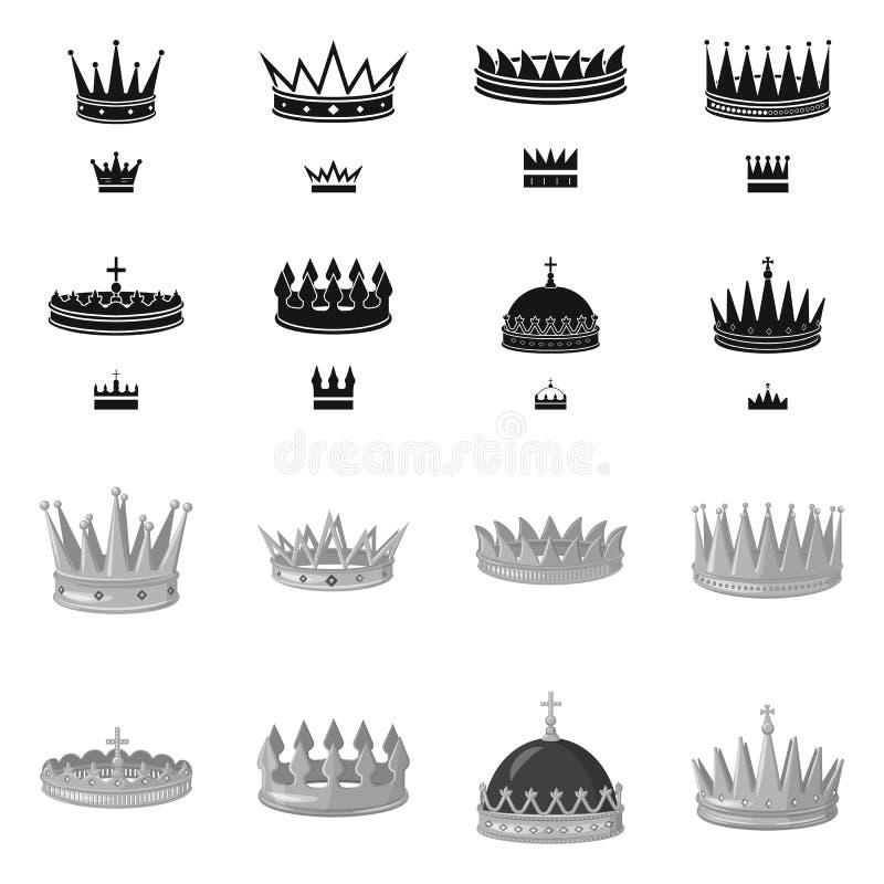 Dise?o del vector de s?mbolo medieval y de la nobleza Fije del icono medieval y de la monarqu?a del vector para la acci?n ilustración del vector