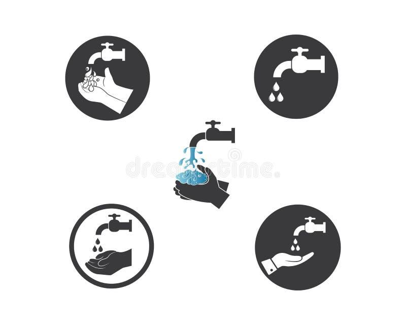 dise?o del vector del icono del logotipo de las manos que se lava libre illustration