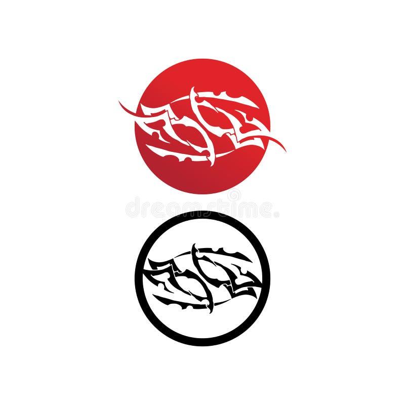 dise?o determinado del ejemplo del vector del t?tem del tatoo de la llama de la colecci?n tribal del tatto fotos de archivo libres de regalías