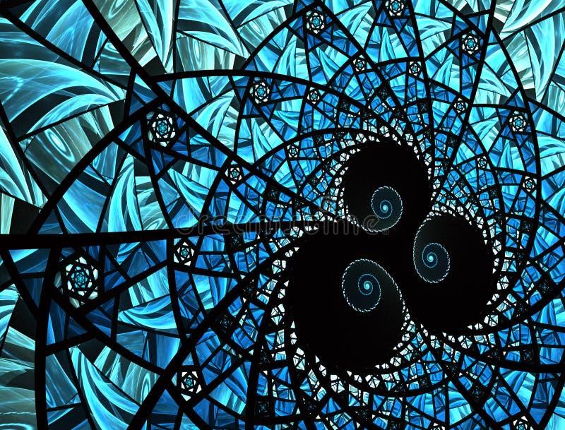 Dise?o geom?trico Textura del vitral del mosaico ilustración del vector