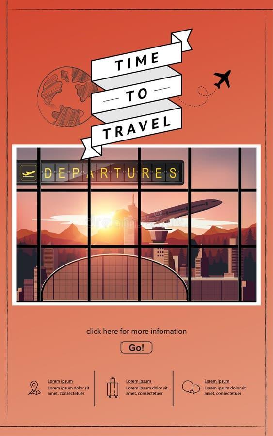 Dise?o infographic del vector del viaje del aeropuerto foto de archivo libre de regalías