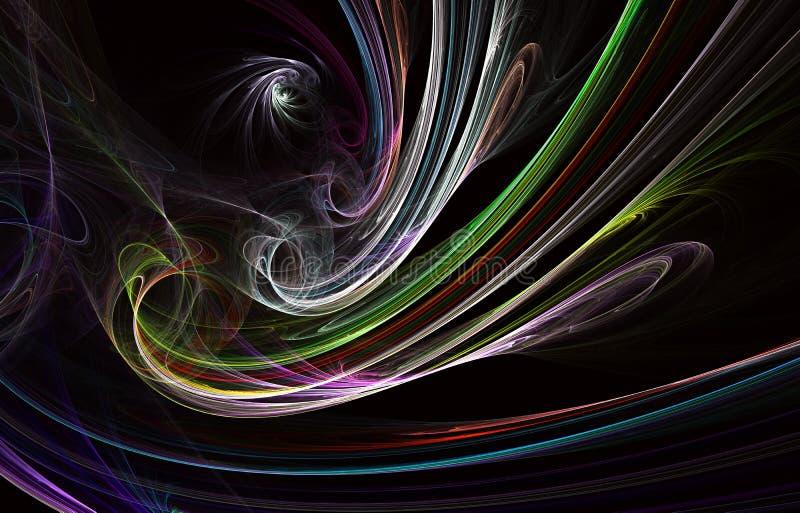 Dise?o moderno de la forma que brilla intensamente Pistas ligeras en?rgicas y efectos ilustración del vector