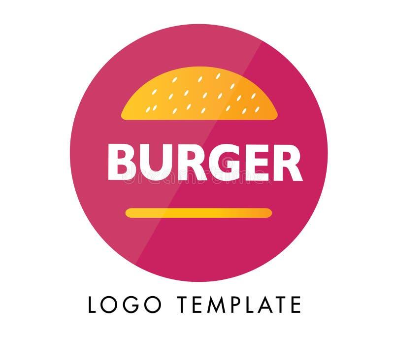 Dise?o moderno del logotipo de la hamburguesa para las compa??as Fichero del vector disponible logotipo listo para utilizar ilustración del vector