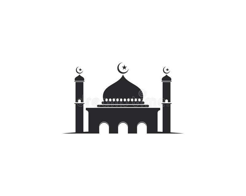 Dise?o musulm?n del ejemplo del vector del icono de la mezquita stock de ilustración