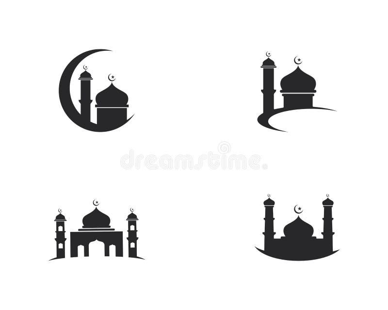 Dise?o musulm?n del ejemplo del vector del icono de la mezquita libre illustration