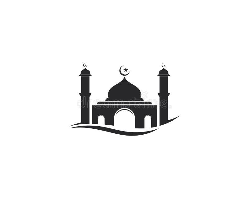 Dise?o musulm?n del ejemplo del vector del icono de la mezquita ilustración del vector