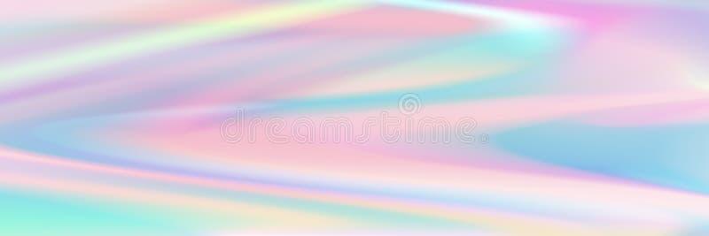 dise?o ologr?fico en colores pastel abstracto horizontal de la textura para el modelo y el fondo libre illustration
