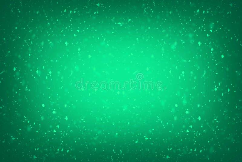 Dise?o rico de lujo verde de la textura del fondo del grunge del vintage del fondo verde abstracto con la pintura antigua elegant libre illustration