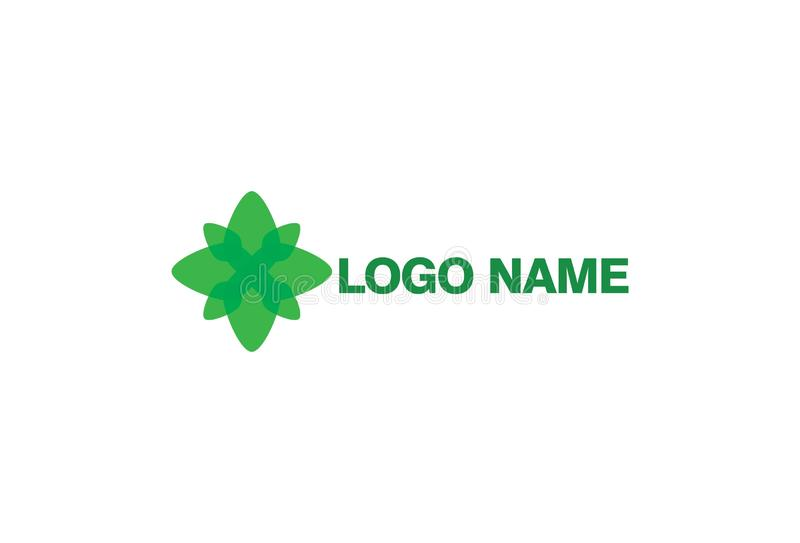 Dise?o verde del logotipo de la flor stock de ilustración