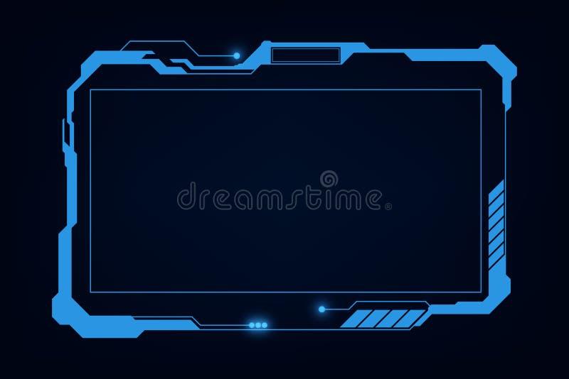 Dise?o virtual del hud del ui del GUI del sistema futurista futuro abstracto de la pantalla Ilustraci?n EPS10 del vector stock de ilustración