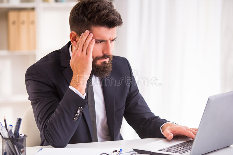 Disease in the office royalty free stock images