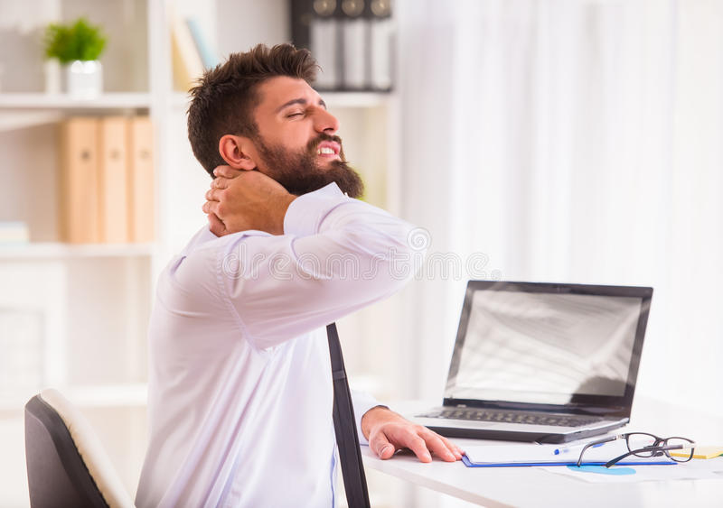Disease in the office stock photography