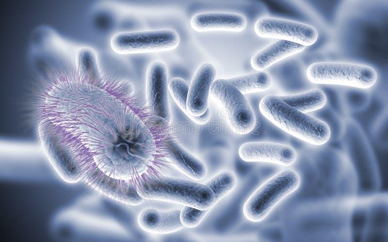 diseased bakterieblue royaltyfri illustrationer