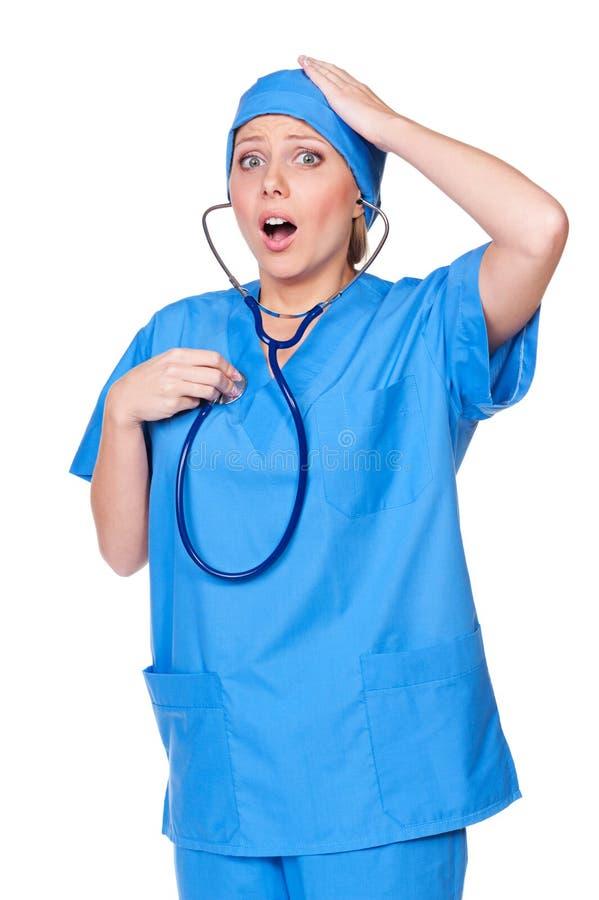Download Diseased Nurse Listening Her Heart Stock Photo - Image: 27567070
