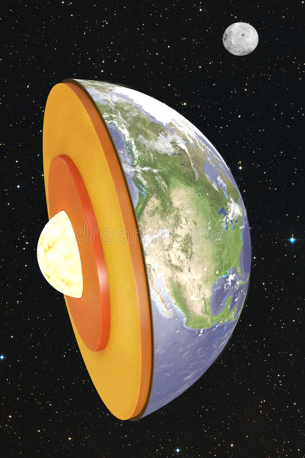 Disección de la tierra en espacio stock de ilustración