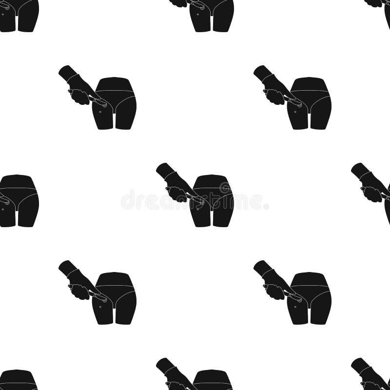 Disección de una ebullición en la nalga de un hombre Solo icono de la cirugía en web negro del ejemplo de la acción del símbolo d libre illustration