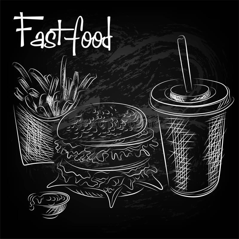 Download Disegnato A Mano Di Alimento Orientale Illustrazione Vettoriale - Illustrazione di pane, cheeseburger: 55357510