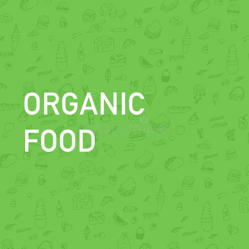 Disegnato a mano mangi sano - il manifesto o l'insegna motivazionale con la frase dell'a mano iscrizione mangia sano royalty illustrazione gratis