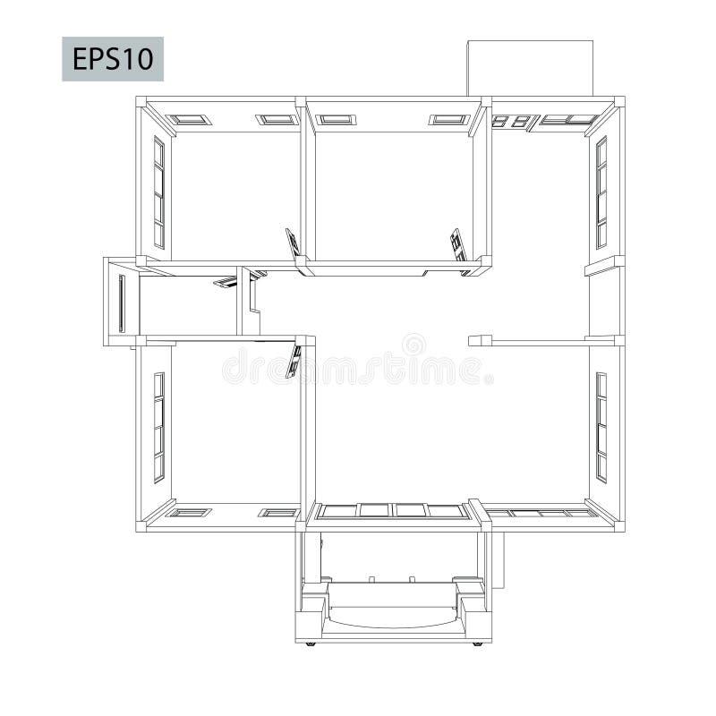 Disegni case di progettazione illustrazione di stock for Programma di costruzione della casa gratuito