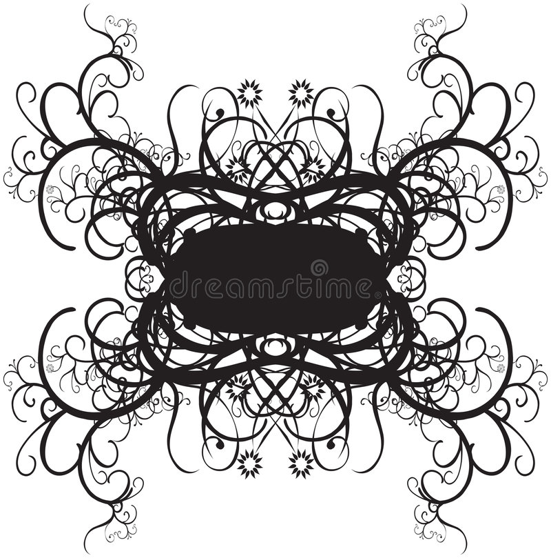 Disegni decorativi del bordo royalty illustrazione gratis