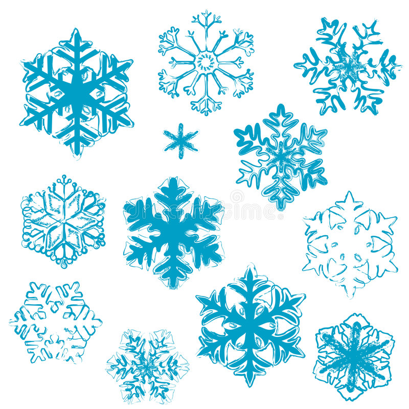 Download Disegni del fiocco di neve illustrazione vettoriale. Illustrazione di background - 3891370