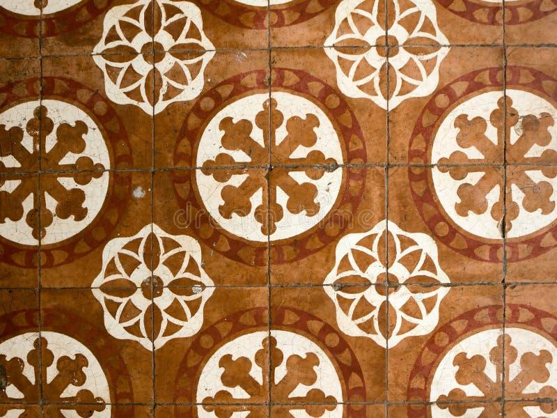 Disegni dell'oggetto d'antiquariato delle mattonelle di pavimento fotografie stock libere da diritti